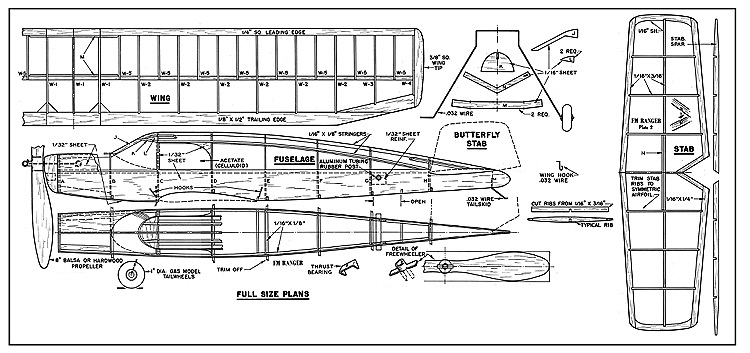 Ranger FM-1950 model airplane plan