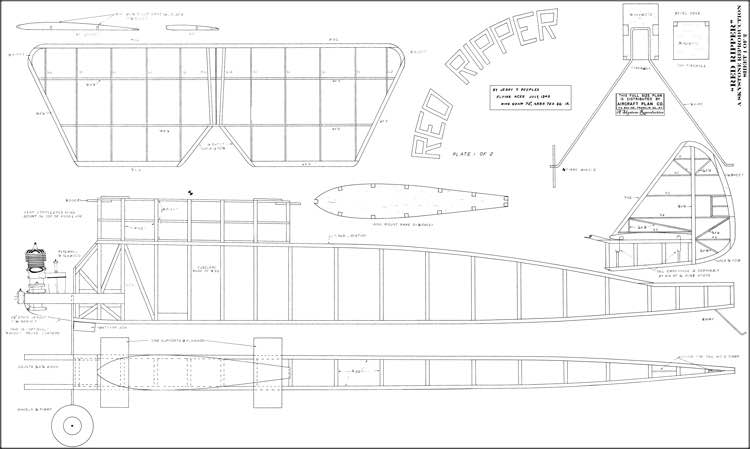 Red Ripper 1940 model airplane plan