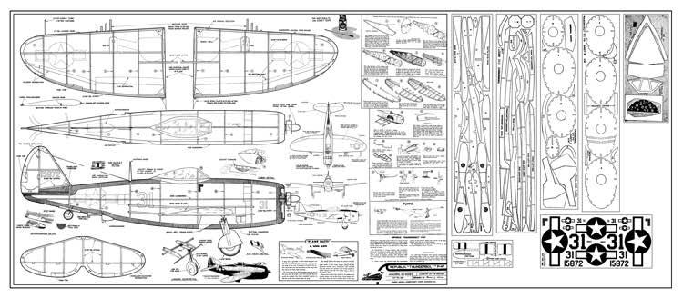 Republic P 47 Thunderbolt Plans Aerofred Download Free