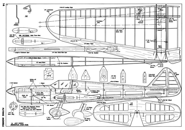 The Ryan S.C. model airplane plan