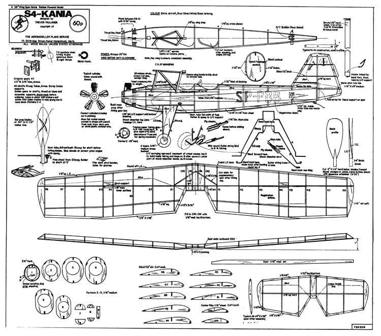 S-4 Kania model airplane plan