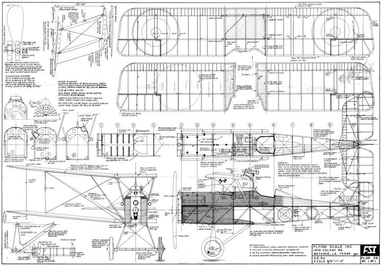 Se5a Fsi Plans Aerofred Download Free Model Airplane Plans