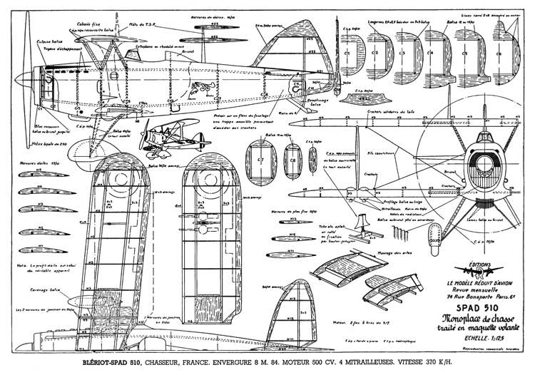 Bleriot - SPAD S.510 model airplane plan
