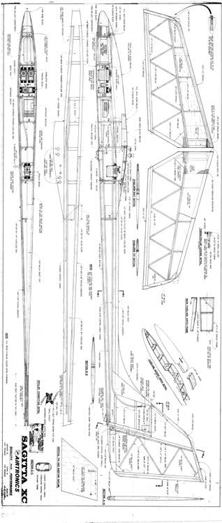 Sagitta XC model airplane plan