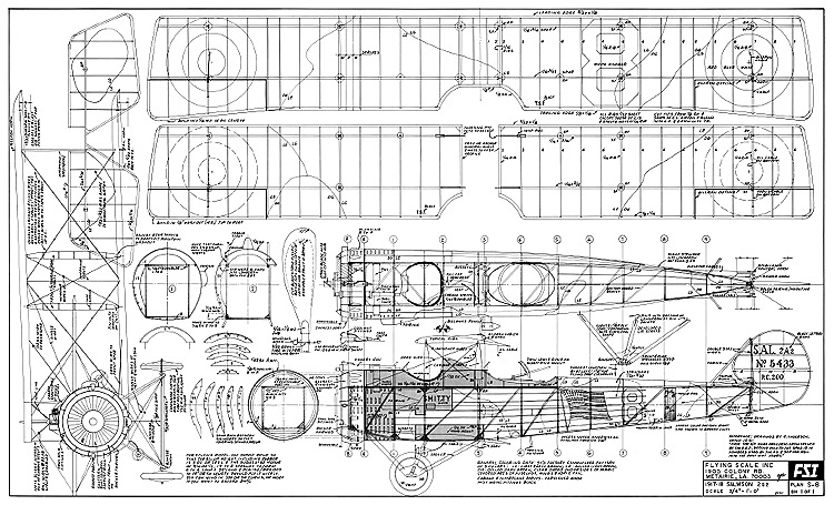 Salmson 2 A2 FSI model airplane plan