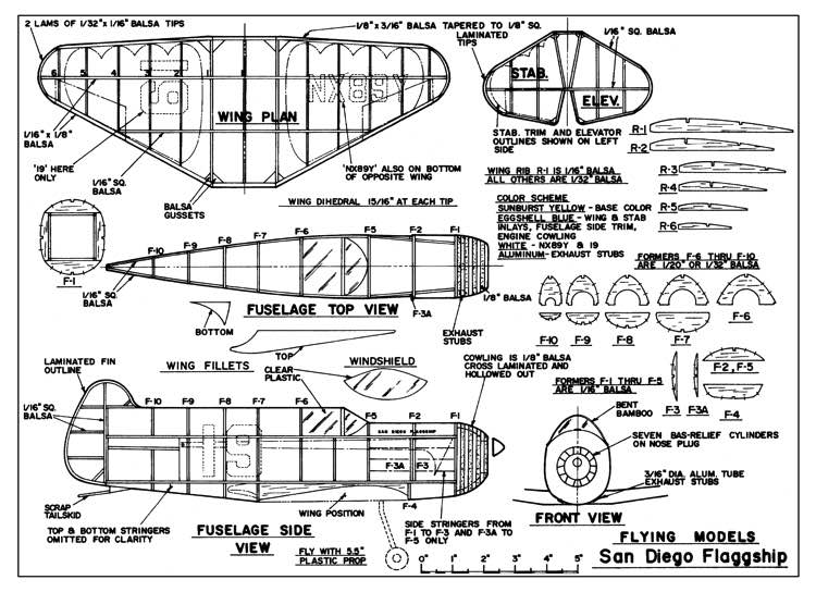San Diego Flagship model airplane plan