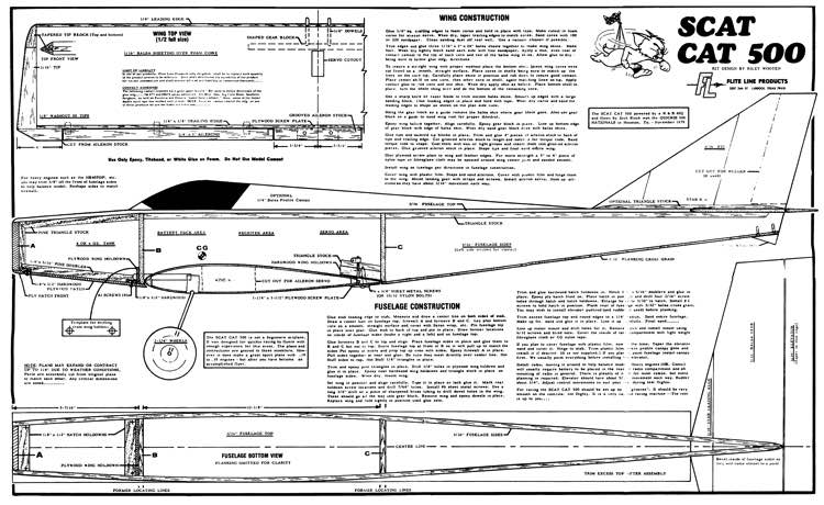 Scat Cat 500 model airplane plan