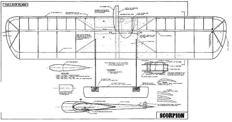 Scorpion CL model airplane plan