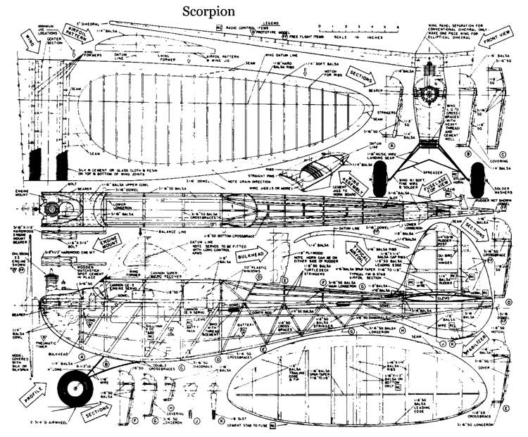 Scorpion2 model airplane plan