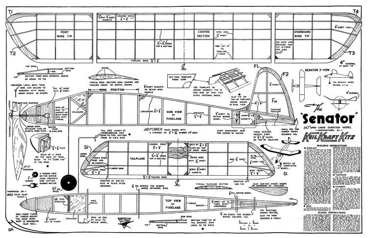 Senator model airplane plan