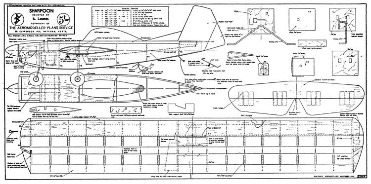 Sharpoon model airplane plan
