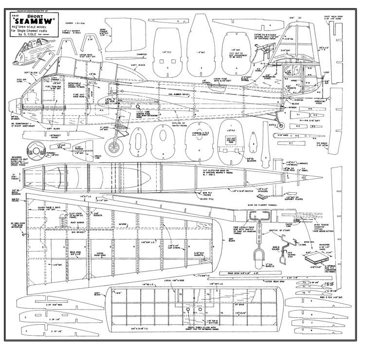 Short Seamew model airplane plan