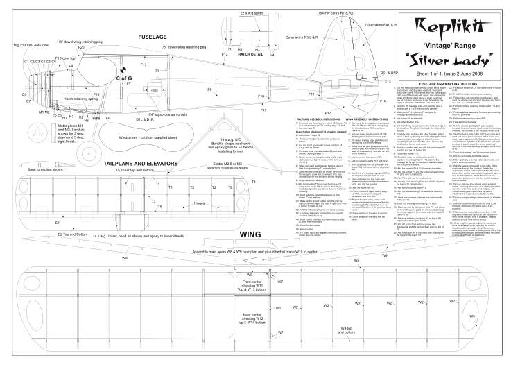 SilverLady model airplane plan