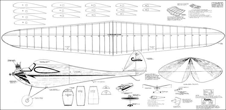 Silver Gull model airplane plan