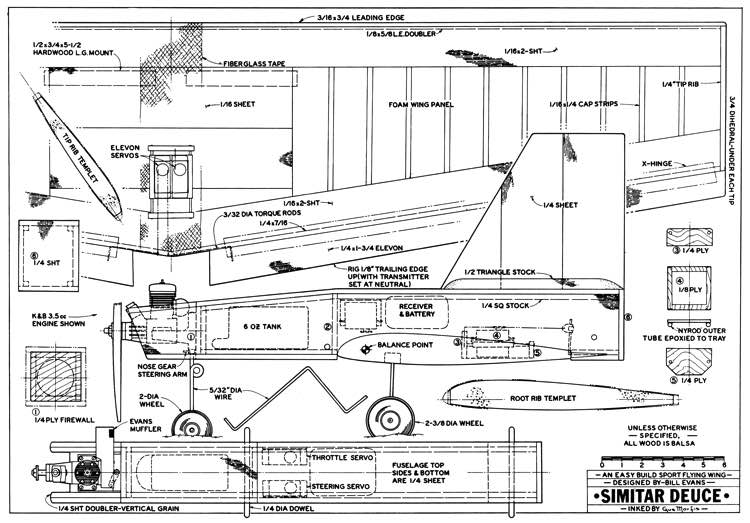 Simitar Deuce model airplane plan