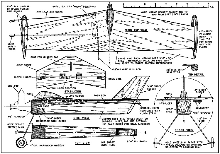 Simple Flyman model airplane plan