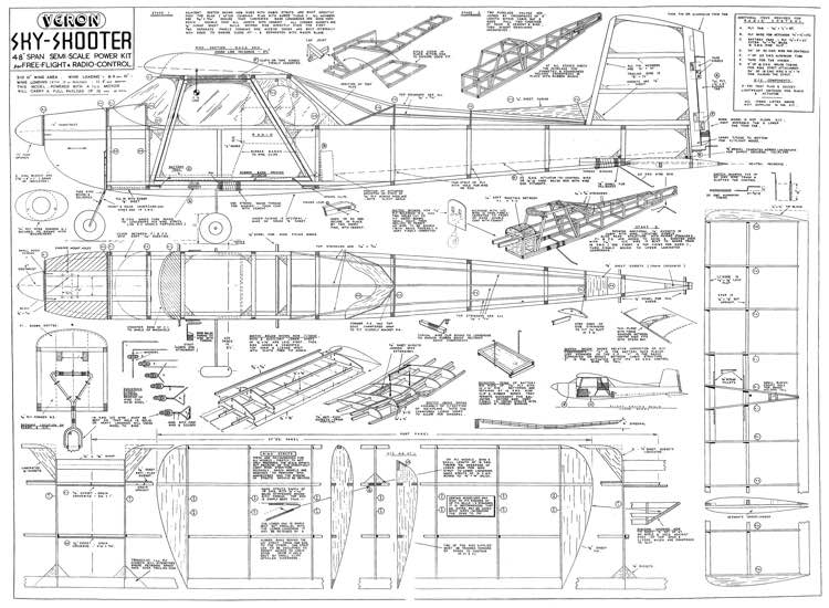 Sky Skooter 48in model airplane plan