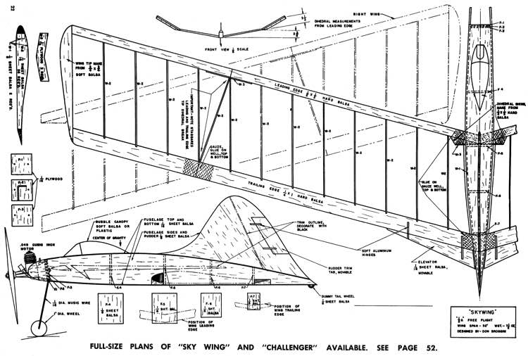 Sky Wing model airplane plan