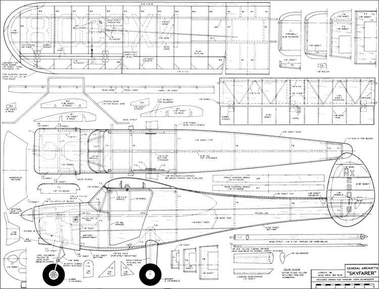 Skyfarer Rc 50in Plans - Aerofred
