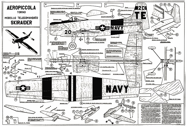 Skyraider CL model airplane plan