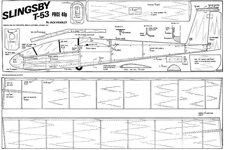 Slingsby T53 model airplane plan