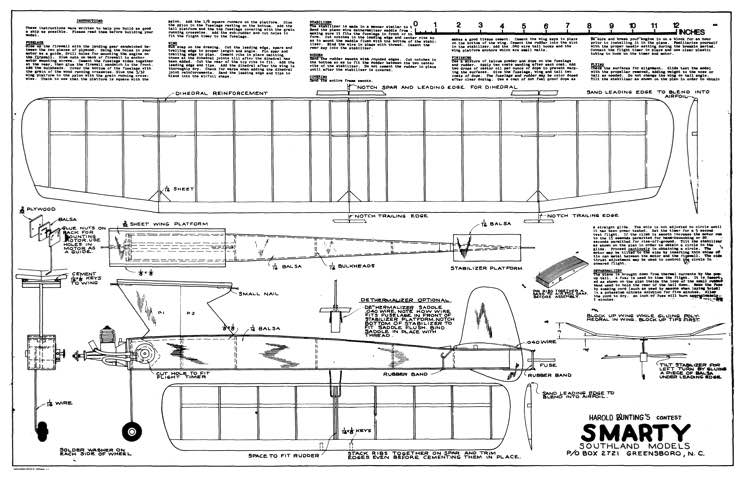 Smarty model airplane plan