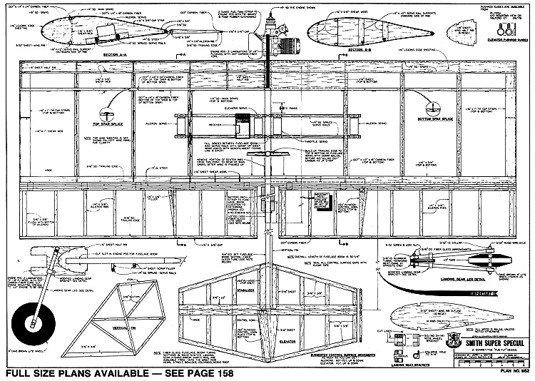 Smith Super Special-RCM-1162 model airplane plan