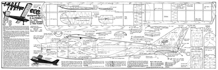 Smoke Trail model airplane plan
