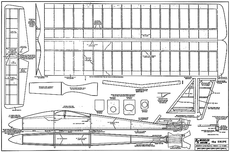 Snipe RCM-330 model airplane plan