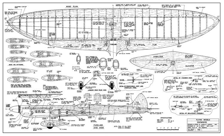 Snowbird model airplane plan