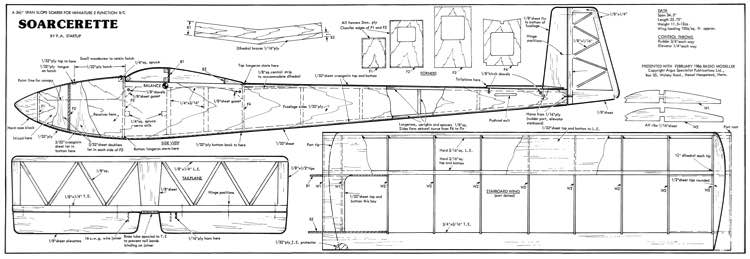 Soarcerette model airplane plan