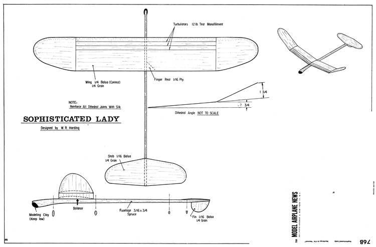 Sophisticated Lady HLG model airplane plan