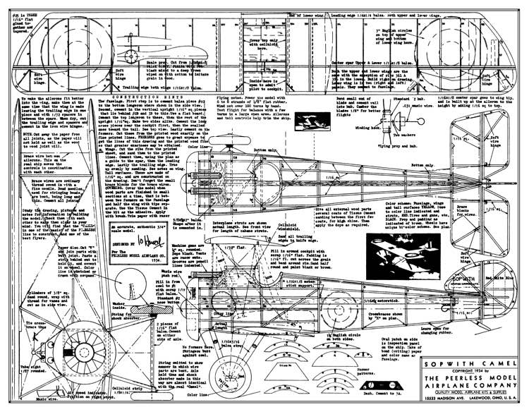 Sopwith Camel 2 Plans Aerofred Download Free Model