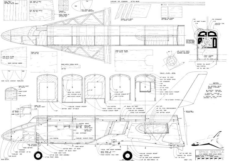 Space Shuttle 40 fixed Plans - AeroFred - Download Free ...