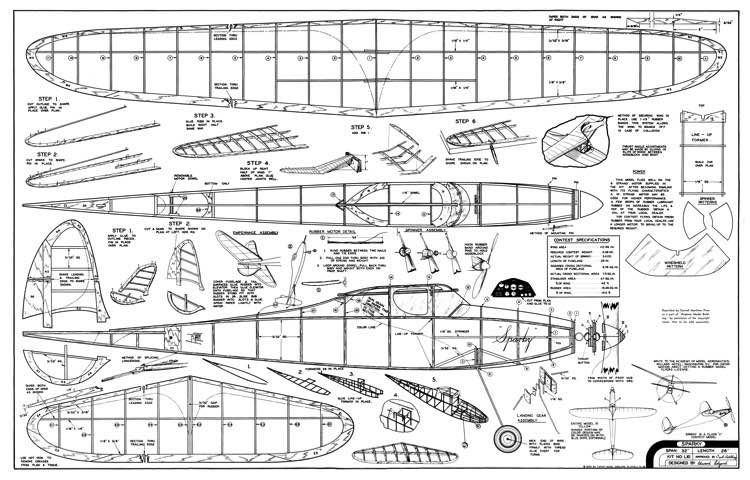 Sparky L-10 model airplane plan