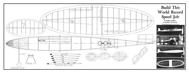 Speed Job model airplane plan