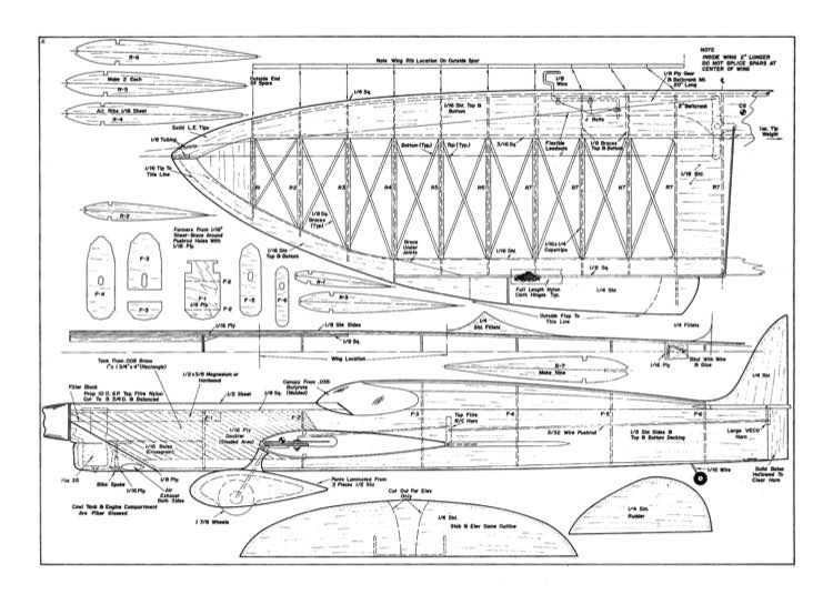 Starlight model airplane plan