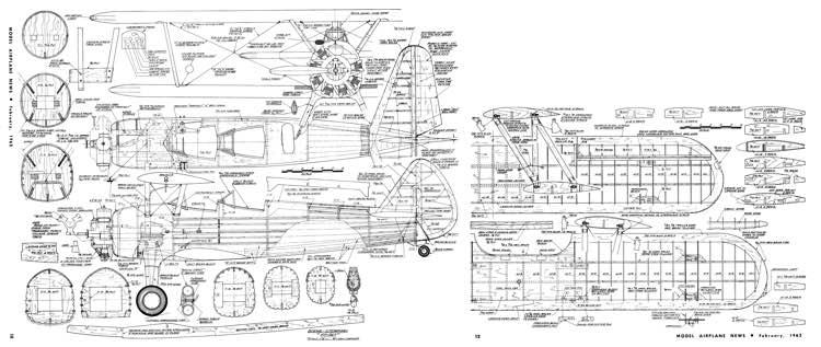 Stearman PT-17 Kaydet-MAN-02-62 model airplane plan