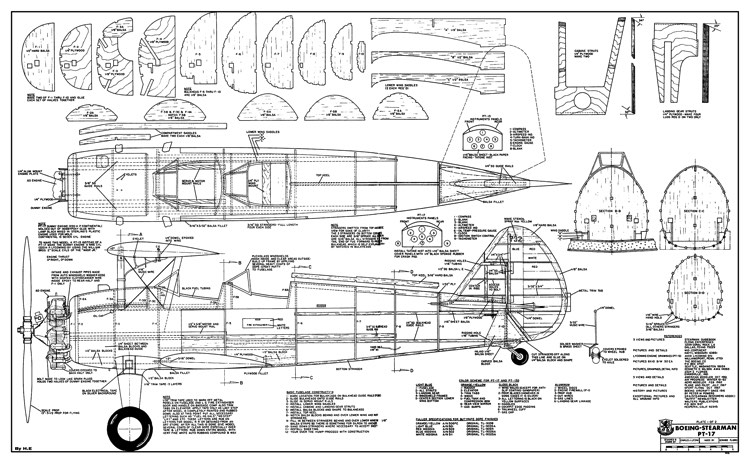 Stearman Pt 17 Rcm 416 Plans Aerofred Download Free
