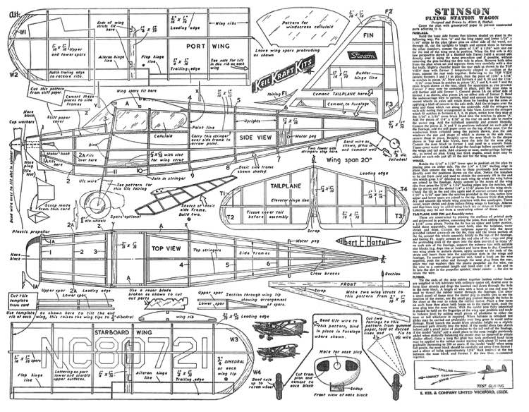 StinsonFSW model airplane plan