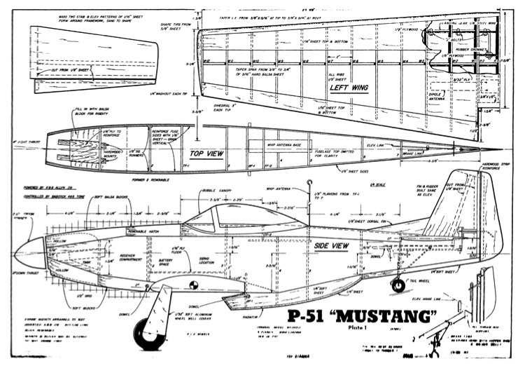 Strader P-51 Plans - AeroFred - Download Free Model ...