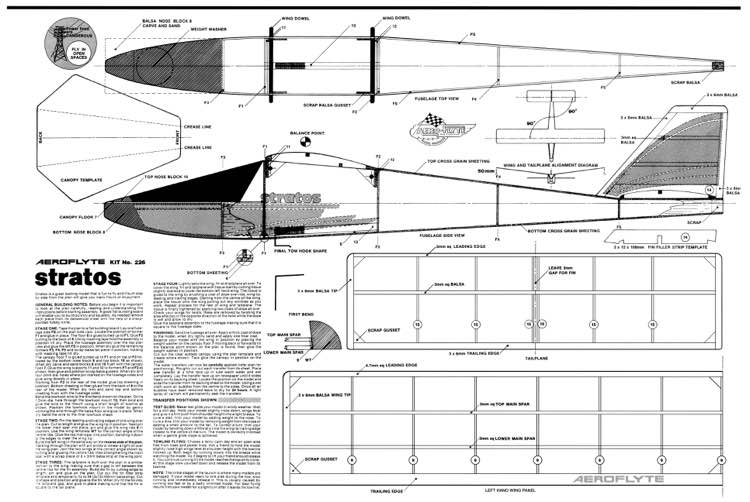 Stratos Aeroflyte model airplane plan