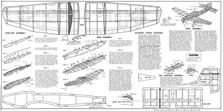 Ju-87B Stuka model airplane plan