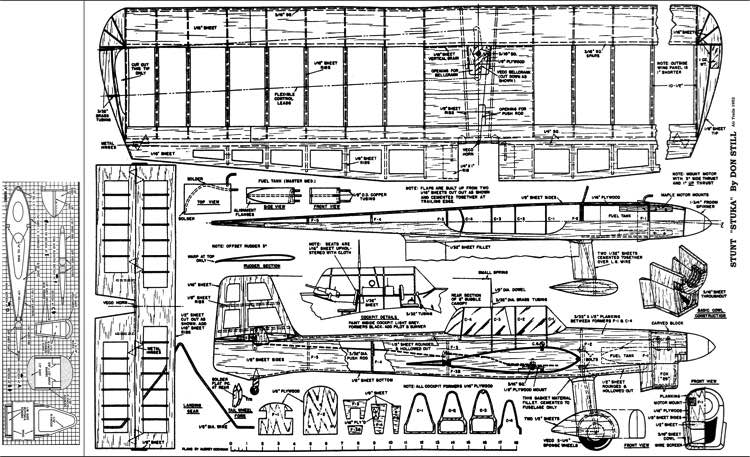 Stuke Stunt 1952 model airplane plan