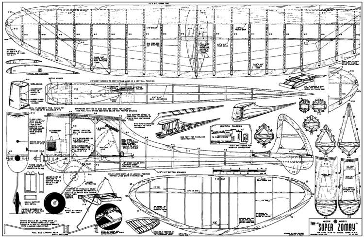 Super Zomby model airplane plan