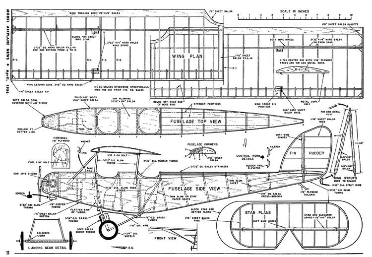 Supermarine Sparrow-MAN-04-56 model airplane plan