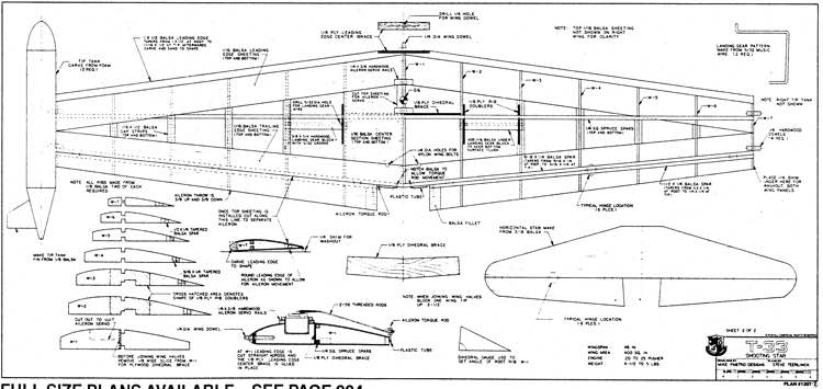 T33 p2 model airplane plan