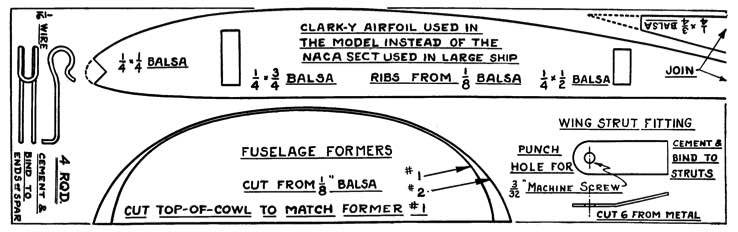 Taylor Young p4 model airplane plan