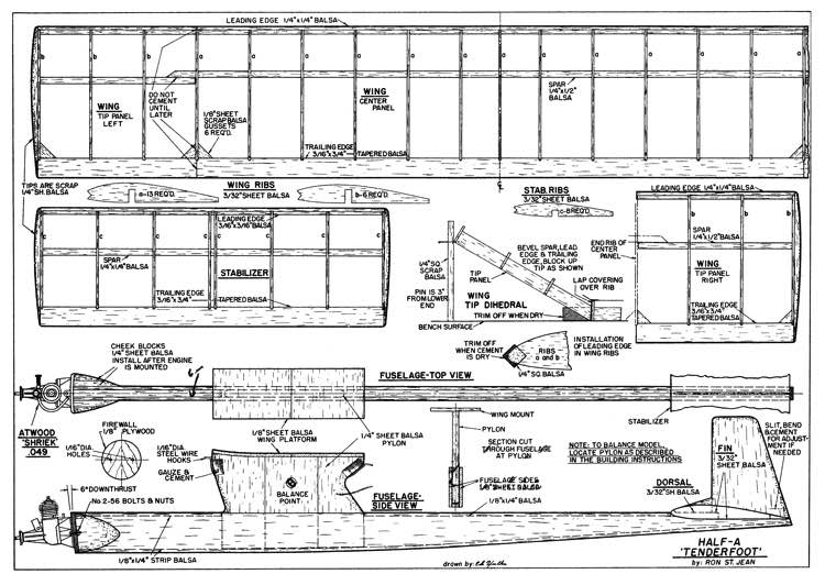 Tenderfoot model airplane plan