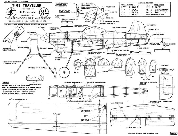 TimeTraveller model airplane plan